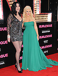 Cher and Christina Aguilera at The Screen Gems' L.A. Premiere of Burlesque held at The Grauman's Chinese Theatre in Hollywood, California on November 15,2010                                                                               © 2010 Hollywood Press Agency