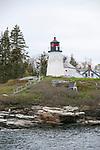 Burnt Island Light, Boothbay Harbor, Maine, vertical.