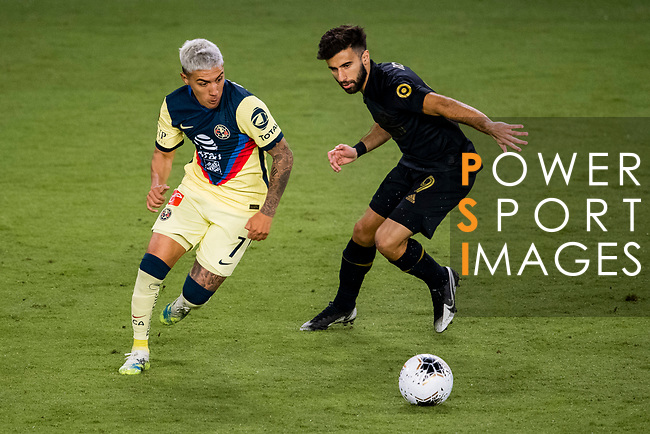 Leonardo Suarez of Club America (MEX) in action during their CONCACAF Champions League Semi Finals match against Los Angeles FC (USA) at the Orlando's Exploria Stadium on 19 December 2020, in Florida, USA. Photo by Victor Fraile / Power Sport Images