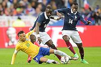 Blaise Matuidi (Fra) vs Neymar jr (Brasile) <br /> Parigi 26-03-2015 Stade De France Calcio Football 2014/2015 Amichevole Francia Brasile <br /> Foto Panoramic / Insidefoto