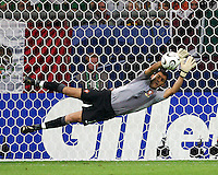 Goalkeeper Ricardo makes a save for Portugal. Portugal defeated Mexico 2-1 in their FIFA World Cup Group D match at FIFA World Cup Stadium, Gelsenkirchen, Germany, June 21, 2006.