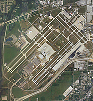 aerial photo map of Indianapolis International Airport (IND), Marion County, Indiana