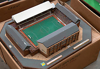 BNPS.co.uk (01202 558833)<br /> Pic: Zachary Culpin/BNPS<br /> <br /> Pictured: West Ham United's Upton Park<br /> <br /> An incredible collection of model football stadiums handmade by a soccer fan have sold for almost £19,000 after being found in a storage unit.<br /> <br /> Model-maker John Le Maitre created miniature versions of all 92 English Football League club grounds from the 1980s, as well as the old Wembley Stadium.<br /> <br /> They featured on a Blue Peter episode that year and are a throwback to a bygone age when football grounds with their banks of terraces looked very different to today's super stadiums.