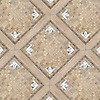 Coventry Garden, a hand-cut stone mosaic, shown in polished Calacatta Tia, Verde Luna, and honed Jura Grey, Fontenay Claire, and St Richard.