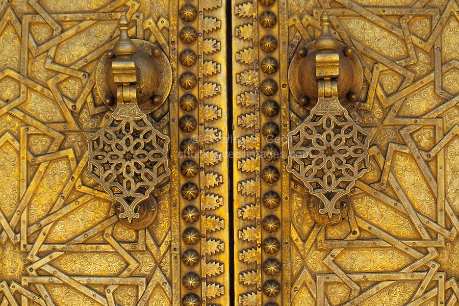 Fez, Morocco - Royal Palace Doors, Dar El-Makhsen