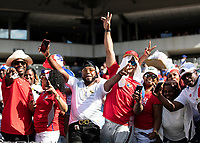 PHILADELPHIA, PA - JUNE 30: Panama fans during a game between Panama and Jamaica at Lincoln Financial Field on June 30, 2019 in Philadelphia, Pennsylvania.