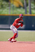 Philadelphia Phillies Jesus Azuaje (2) before a Minor League Extended Spring Training game against the Pittsburgh Pirates on May 3, 2018 at Pirate City in Bradenton, Florida.  (Mike Janes/Four Seam Images)