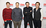 James Graham, Jonny Lee Miller, Bertie Carvel and Rupert Goold attend the 'INK' cast photo call and rehearsal at Manhattan Theatre Club Rehearsal Studios on March 5, 2019 in New York City.