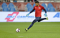 TORONTO, ON - OCTOBER 15: Zack Steffen #1 of the United States warming up during a game between Canada and USMNT at BMO Field on October 15, 2019 in Toronto, Canada.