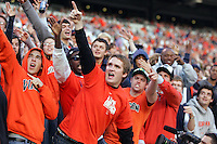 Fans rule during the 16-13 overtime win over UNC Saturday October 18, 2008 at Scott Stadium in Charlottesville, Va.
