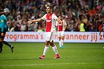 Nederland, Amsterdam, 15 augustus 2015<br /> Eredivisie<br /> Seizoen 2015-2016<br /> Ajax-Willem ll (3-0)<br /> Anwar El Ghazi van Ajax juicht nadat hij een doelpunt heeft gemaakt