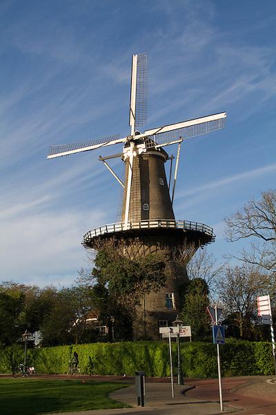 Windmill in Leiden, Holland, the Netherlands,