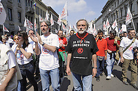- demonstration of April 25, anniversary of Italy's Liberation from the nazifascism; Gino Strada, founder of the humanitarian organization Emergency with Matteo Dell'Ara, paramedical arrested in Afghanistan<br /> <br /> - manifestazione del 25 aprile, anniversario della Liberazione dell'Italia dal nazifascismo, Gino Strada, fondatore dell'organizzazione umanitaria Emergency con  Matteo Dell'Ara, infermiere arrestato in Afghanistan