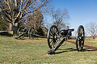 Canons on the Battle of Fredericksburg National Military Park, Virginia, USA