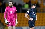 St Johnstone v Dundee….03.04.19   McDiarmid Park   SPFL<br />John O'Sullivan and Zander Clark at full time<br />Picture by Graeme Hart. <br />Copyright Perthshire Picture Agency<br />Tel: 01738 623350  Mobile: 07990 594431