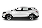 Car Driver side profile view of a 2021 Lincoln Nautilus Standard 5 Door SUV Side View