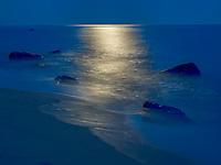 Moonrise over Lucy Vincent Beach, Martha's Vineyard