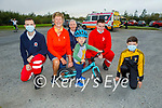 Little Paddy Sullivan ready for the cycle for the Samartians and Kerry Hospice fundraiser at John Mitchels on Saturday morning, l to r:   Denis Murphy, Maura and Paddy SullivanKeith Begley, Leonard Mangan, Keith Begley and Eoin Mangan