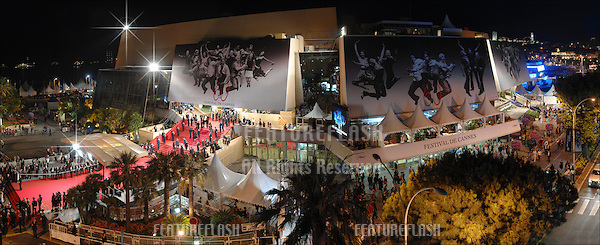 Panorama showing the Palais des Festivals and the red carpet pictured during the 60th Festival de Cannes in May 2007..May 21, 2007  Los Angeles, CA.Picture: Paul Smith / Featureflash