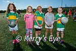 Having fun at the LGFA Academy at John Mitchels GAA underage academy on Sunday, l to r: Madison O'Mara, Ava Cronin, Brooke Fehan, Lucy Morrisson and Clodagh Costello.