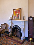 Fireplace And Portrait Of Queen Victoria In A Front Room, Consul's Residence, Tamsui, Taiwan.