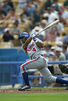 Henry Mateo of the Montreal Expos during a 2003 season MLB game at Dodger Stadium in Los Angeles, California. (Larry Goren/Four Seam Images)