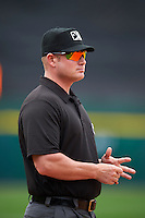Umpire Sean Barber during a game between the Columbus Clippers and Buffalo Bisons on July 19, 2015 at Coca-Cola Field in Buffalo, New York.  Buffalo defeated Columbus 4-3 in twelve innings.  (Mike Janes/Four Seam Images)