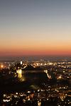 Castello di Brescia nella foto il castello visto dal Monte Maddalena geografico Brescia 28/02/2021 Castel of Brescia in the picture the castle from the Maddalena mountain geographic Brescia 28/02/2021