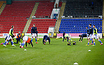St Johnstone v Livingston…12.12.20   McDiarmid Park      SPFL<br />The saints players warm-up before kick off<br />Picture by Graeme Hart.<br />Copyright Perthshire Picture Agency<br />Tel: 01738 623350  Mobile: 07990 594431