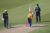 Jimmy Neesham in bowling action for Essex during Glamorgan vs Essex Eagles, Vitality Blast T20 Cricket at the Sophia Gardens Cardiff on 13th June 2021