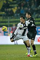 Nicola Sansone Parma Andrea Barzagli Juventus.Calcio Parma vs Juventus.Campionato Serie A - Parma 13/1/2013 Stadio Ennio Tardini.Football Calcio 2012/2013.Foto Federico Tardito Insidefoto.