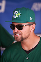 Daytona Tortugas Scott Brattvet (11) before a game against the Clearwater Threshers on April 20, 2016 at Bright House Field in Clearwater, Florida.  Clearwater defeated Daytona 4-2.  (Mike Janes/Four Seam Images)