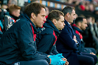 Physiotherapist, Ritson Lloyd looks on<br /> Re: Behind the Scenes Photographs at the Liberty Stadium ahead of and during the Premier League match between Swansea City and Bournemouth at the Liberty Stadium, Swansea, Wales, UK. Saturday 25 November 2017