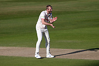 Paul Walter of Essex celebrates taking the wicket of Sam Hain during Warwickshire CCC vs Essex CCC, LV Insurance County Championship Group 1 Cricket at Edgbaston Stadium on 25th April 2021