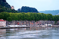 tower and town tournon sur rhone rhone france