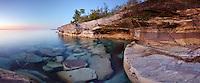 Sandstone shoreline of Lake Superior in the Upper Peninsula of Michigan. Epson International Pano Bronze Award Winner, 2012