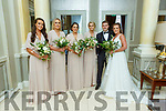 Elaine McCarthy Shrone West Listowel and Ger McCarthy Colbert St Listowel with their bridesmaids Anna McGuire, Shauna Lynch, Nicola Murphy and Aisling O'Driscoll at their reception in the Great Southern Hotel on Saturday