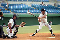 Mickey Mantle at bat during the Mickey Mantle-Whitey Ford Fantasy Camp circa November 1989 at Fort Lauderdale Stadium in Ft. Lauderdale, Florida.  (MJA/Four Seam Images)