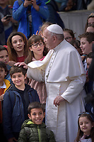 Pope Francis during of a weekly general audience at St Peter's square in Vatican, Wednesday,March 27, 2019