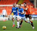 13.12.2020 Dundee Utd v Rangers: Scott Arfield pulled back by Liam Smith