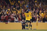 MELBOURNE, 29 JUNE 2013 - Sekope KEPU of the Wallabies celebrates winning the Second Test match between the Australian Wallabies and the British & Irish Lions at Etihad Stadium on 29 June 2013 in Melbourne, Australia. (Photo Sydney Low / sydlow.com)