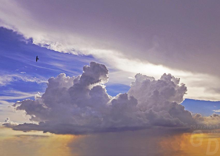 Storm cloud over Manila, Philippines