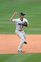 Jupiter Hammerheads shortstop Austin Nola (14) during a game against the Tampa Yankees on July 18, 2013 at Roger Dean Stadium in Jupiter, Florida.  Jupiter defeated Tampa 6-1.  (Mike Janes/Four Seam Images)