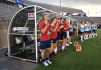 Pia Sundhage, Paul Rogers, Hege Riise. The USWNT defeated Sweden, 3-0.