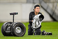 Photographer Anthony Au-Yeung during the Investec Rugby Championship match between the New Zealand All Blacks and the Australia Wallabies at Westpac Stadium in Wellington, New Zealand on Saturday, 27 August 2016. Photo: Marco Keller / www.lintottphoto.co.nz