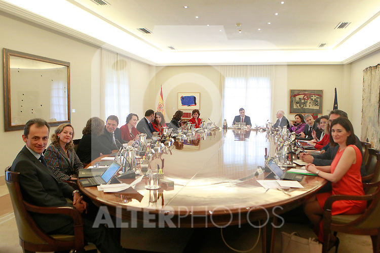 First Council of Ministers of the new Government of Spain, chaired by Pedro Sanchez. June 8,2018. (ALTERPHOTOS/Acero)