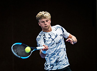 Alphen aan den Rijn, The Netherlands, 25 Januari 2019, ABNAMRO World Tennis Tournament, Supermatch, Len Schouten (NED)<br /> <br /> Photo: www.tennisimages.com/Henk Koster