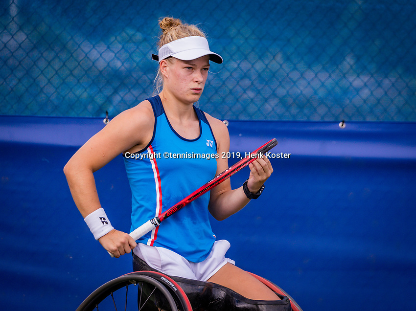 Amstelveen, Netherlands, 19 Augustus, 2020, National Tennis Center, NTC, NKR, National  Wheelchair Tennis Championships, Woman's single: Diede de Groot (NED)<br /> Photo: Henk Koster/tennisimages.com
