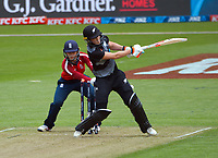 NZ's Maddy Green is cleanbowled during the first international women's T20 cricket match between the New Zealand White Ferns and England at Sky Stadium in Wellington, New Zealand on Wednesday, 3 March 2021. Photo: Dave Lintott / lintottphoto.co.nz