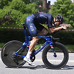 World Champion Filippo Ganna (ITA) Ineos Grenadiers recces the route during Stage 1 of the 2021 Giro d'Italia, and individual time trial running 8.6km around Turin, Italy. 8th May 2021.  <br /> Picture: LaPresse/Fabio Ferrari   Cyclefile<br /> <br /> All photos usage must carry mandatory copyright credit (© Cyclefile   LaPresse/Fabio Ferrari)
